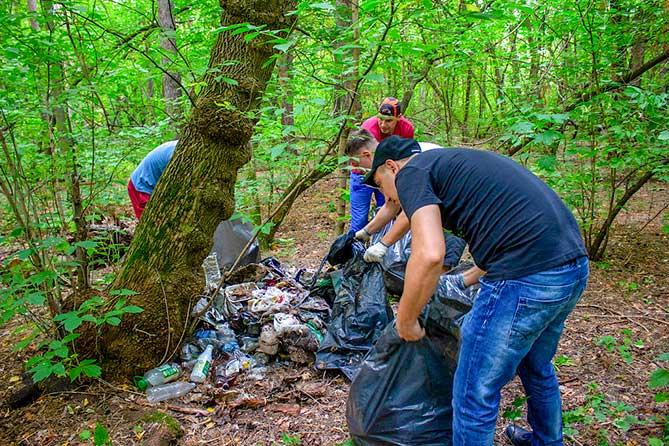 Молодые специалисты «КуйбышевАзота» провели субботник в лесу 17 августа 2019 года