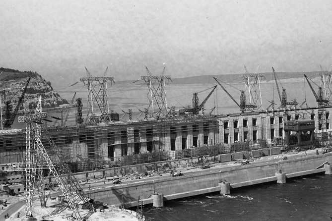 Жигулевская ГЭС 1955 год