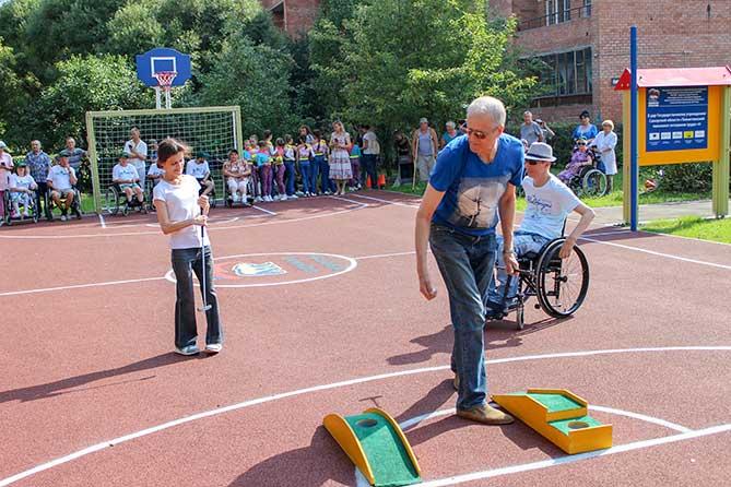 На территории Тольяттинского пансионата состоялось торжественное открытие спортивных площадок