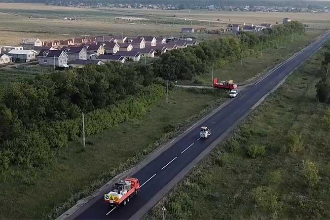 Завершается ремонт участка трассы Тольятти-Димитровград от села Рассвет до села Ташла