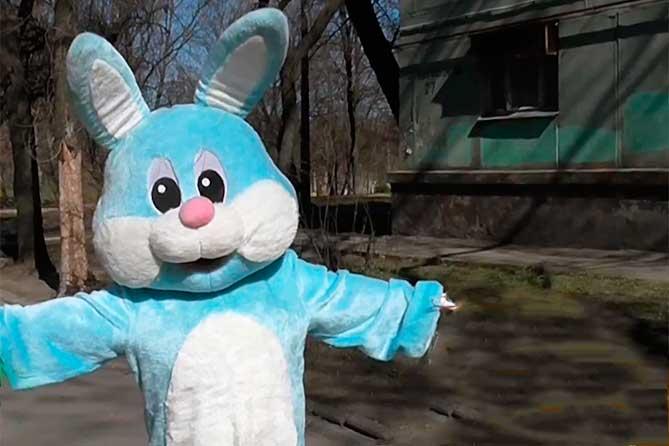 Преступники использовали карнавальный костюм синего кролика