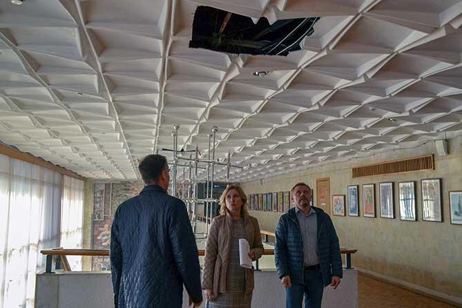 В Культурном Центре «Автоград» (ДКИТ) идут масштабные ремонтные работы внутри и снаружи здания
