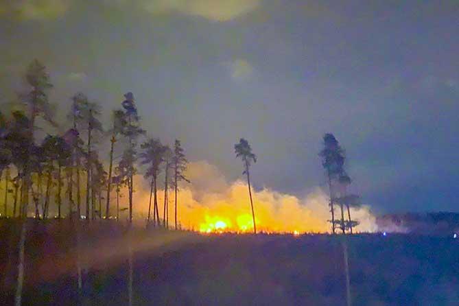 пожар в Портпоселке Тольятти