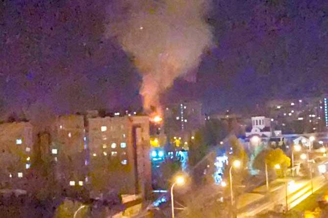В Тольятти ночью 12 октября произошел пожар в квартире многоэтажного дома