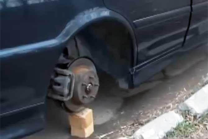Сотрудники Росгвардии задержали предполагаемых воров автоколес в Тольятти