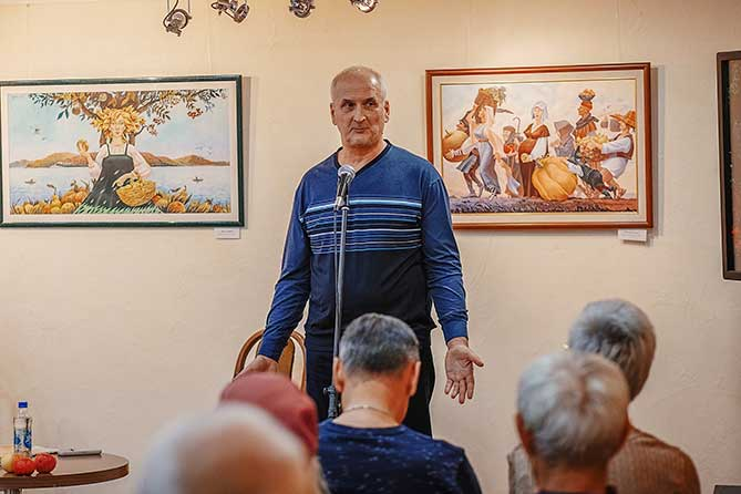 Творческая встреча с тольяттинским художником Виктором Минеевым