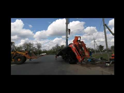 Водитель погиб: На кольце трассы М-5 опрокинулась автоцестерна