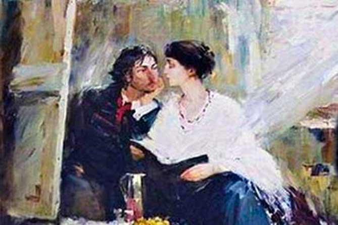 ахматова и художник картина