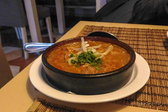 суп в кафе