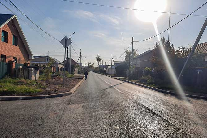 отремонтированная улица Украинская