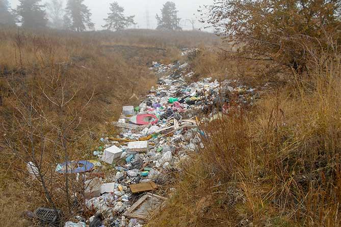несанкционированная свалка отходов
