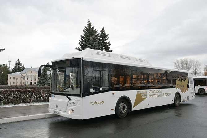 новый автобус ЛиАЗ на газомоторном топливе
