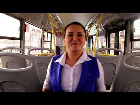 Видеосюжет: Марина — водитель пассажирского автобуса ЛиАЗ в Тольятти